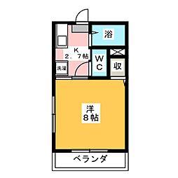 ミナミハイツII[1階]の間取り