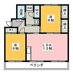 コスモビレッジIII[3階]の間取り