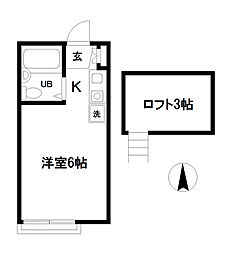 メゾン・ドゥ・SHINO[2階]の間取り