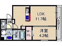 山崎マンション15[1階]の間取り