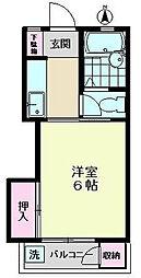 上祖師谷マンション[2階]の間取り