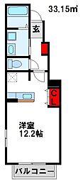 ラフィーネITO[5-102号室]の間取り