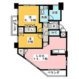 グランマスト桜山広見[6階]の間取り