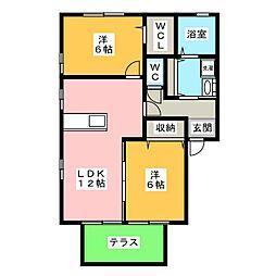サンプレイスA・B・C[1階]の間取り