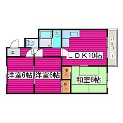 北海道札幌市東区北四十八条東2丁目の賃貸マンションの間取り