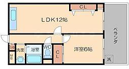 レジデンス豊里I[1階]の間取り