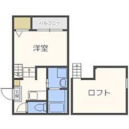 福岡県福岡市博多区竹下5の賃貸アパートの間取り