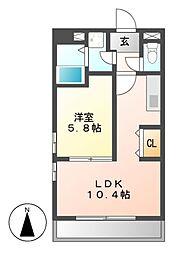 Studio DUO 1252(スタジオデュオ)[4階]の間取り