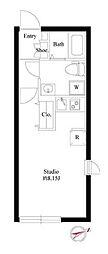 東京メトロ丸ノ内線 四谷三丁目駅 徒歩5分の賃貸マンション 4階ワンルームの間取り