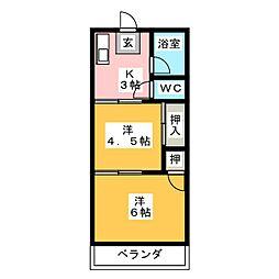森コーポ[2階]の間取り