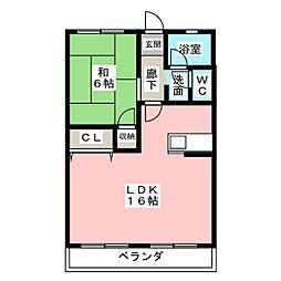 第1コーポ小菅[4階]の間取り