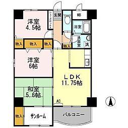アウスピオーリ[4階]の間取り