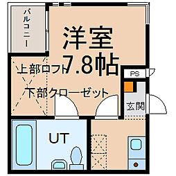 愛知県名古屋市緑区鳴海町字三皿の賃貸アパートの間取り