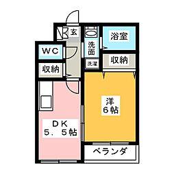 マリア上杉[2階]の間取り