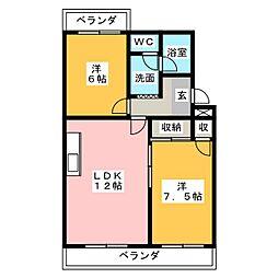 オズハウス6[3階]の間取り