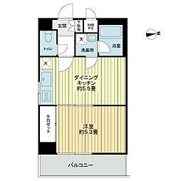 ライオンズマンション飯田橋[4階]の間取り