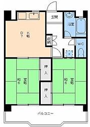 愛媛県松山市中村2丁目の賃貸マンションの間取り