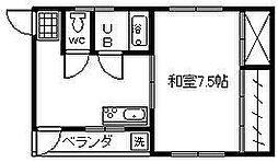 桜小路ビル[2F東号室]の間取り