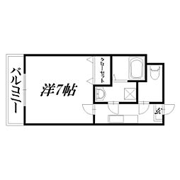 静岡県浜松市東区半田町の賃貸マンションの間取り