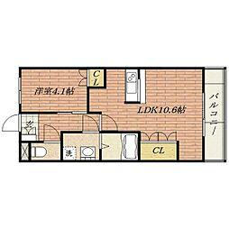 エトワール新在家[3階]の間取り