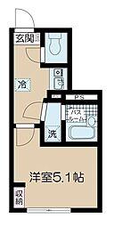 JR総武線 高円寺駅 徒歩9分の賃貸マンション 3階1Kの間取り