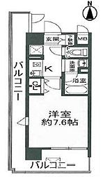 ジュネーゼグラン心斎橋東[8階]の間取り