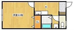 サンロードスI[2階]の間取り