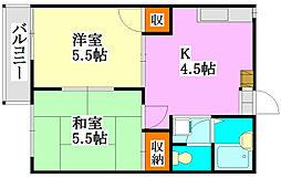 ファミーユ津田沼[101号室]の間取り