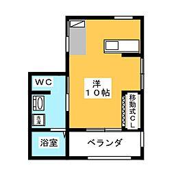 西条町コーポ[3階]の間取り