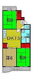 ボン・クレール[2階]の間取り