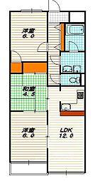 ベネート京都洛西[4階]の間取り