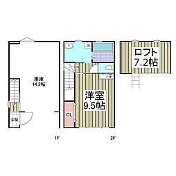 JR東海道本線 真鶴駅 徒歩10分の賃貸アパート 1階ワンルームの間取り
