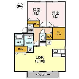 フレマリール21 A[2階]の間取り