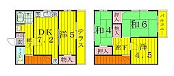 クレスト篠籠田I・II・III[2階]の間取り