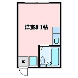 滋賀県大津市浜町の賃貸アパートの間取り