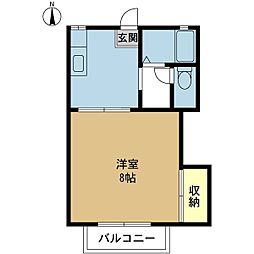 新潟県新潟市中央区笹口1丁目の賃貸アパートの間取り