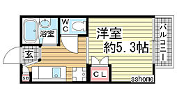 クァトルセゾン六甲道[2階]の間取り