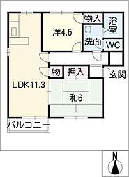 メゾンド・ヤマイチ[2階]の間取り