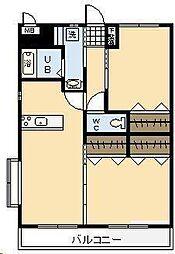 (賃)K・キクロスT&T[4階]の間取り
