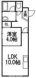 カピテーヌ円山[1階]の間取り