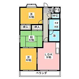 ウィンディアA[3階]の間取り