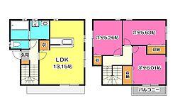 [一戸建] 埼玉県所沢市上新井5丁目 の賃貸【/】の間取り