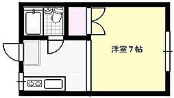 ハイラーク東大崎B[121号室]の間取り