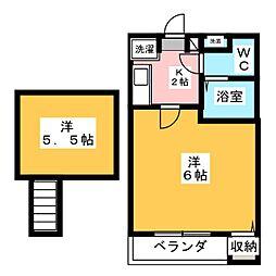 コンパートハウス桜本町[1階]の間取り