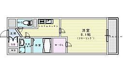 M's COMFORT ESAKA 5階1Kの間取り