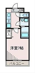 神奈川県相模原市中央区淵野辺2丁目の賃貸マンションの間取り