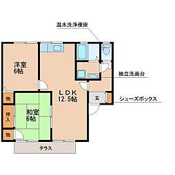 セジュール松泉D棟[2階]の間取り
