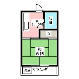 アルザス三番館[2階]の間取り