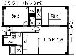 Kテラス(ケイテラス)[301号室号室]の間取り