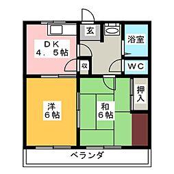コーポ内田[2階]の間取り